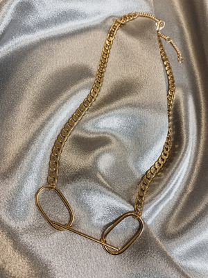Double Link Gold Necklace - Stitch And Feather