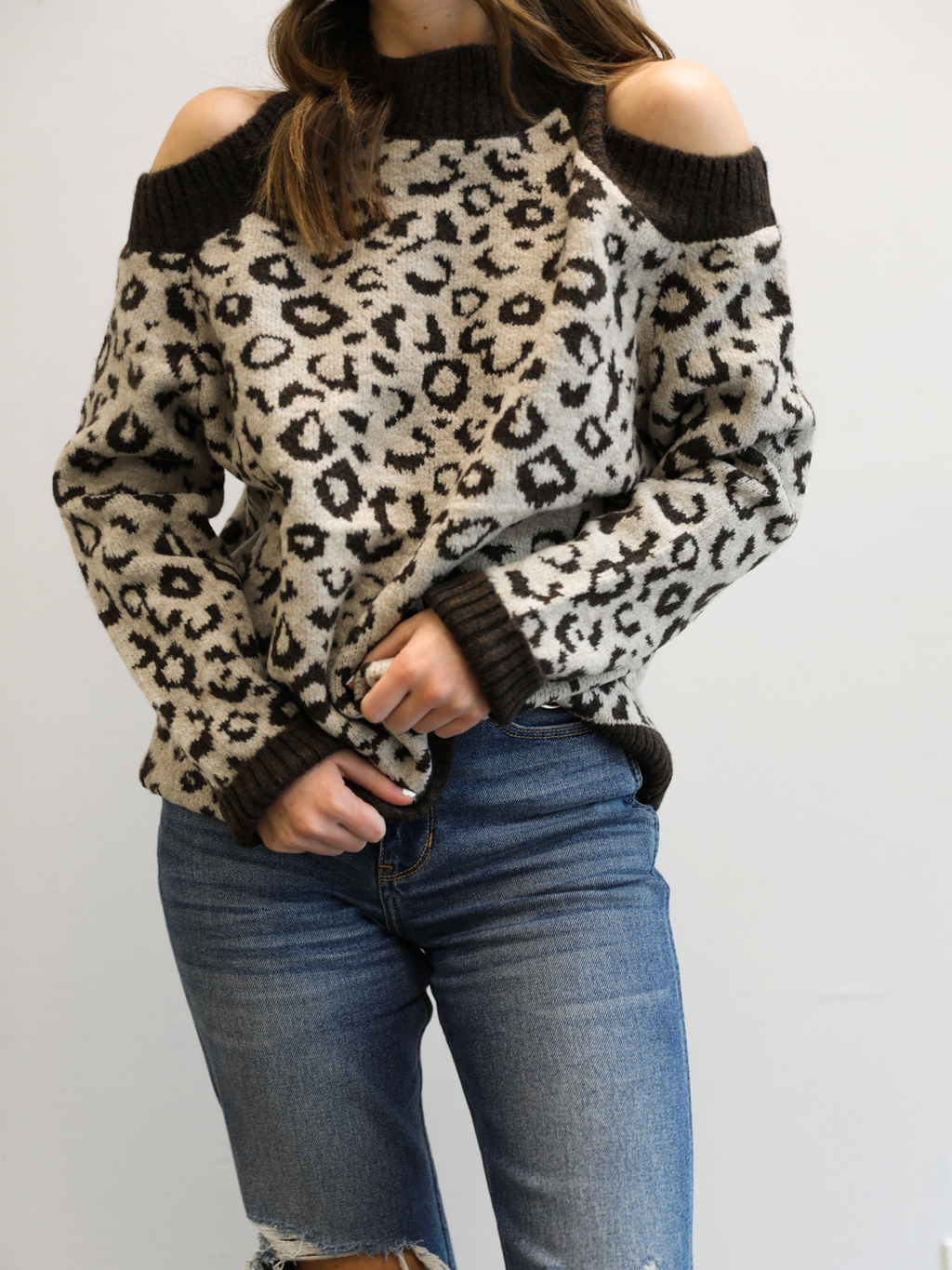 By My Side Leopard Sweater - Stitch And Feather