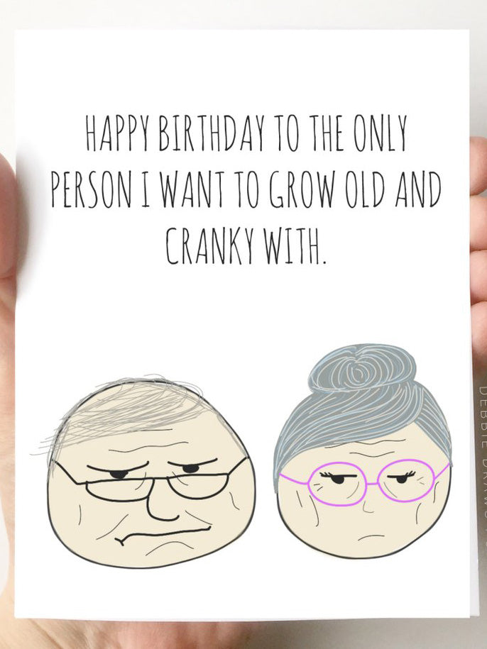 Old & Cranky Card - Stitch And Feather
