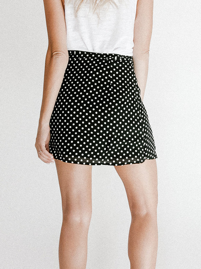 On The Dot Mini Skirt