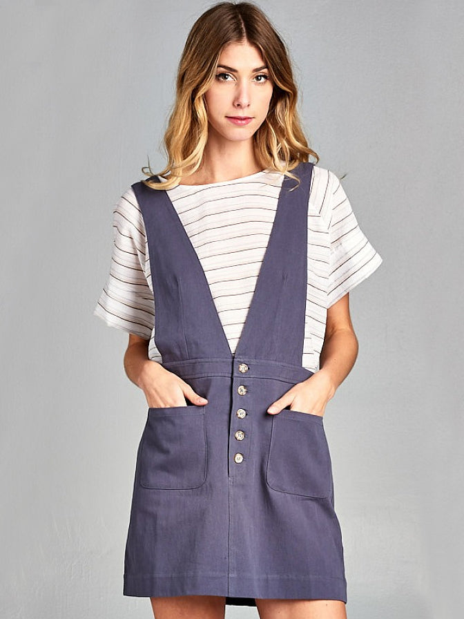 Open Fields Retro Overall Skirt