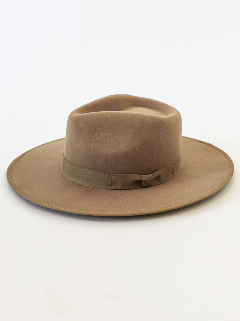 Barry Fedora Hat in Pecan - Stitch And Feather