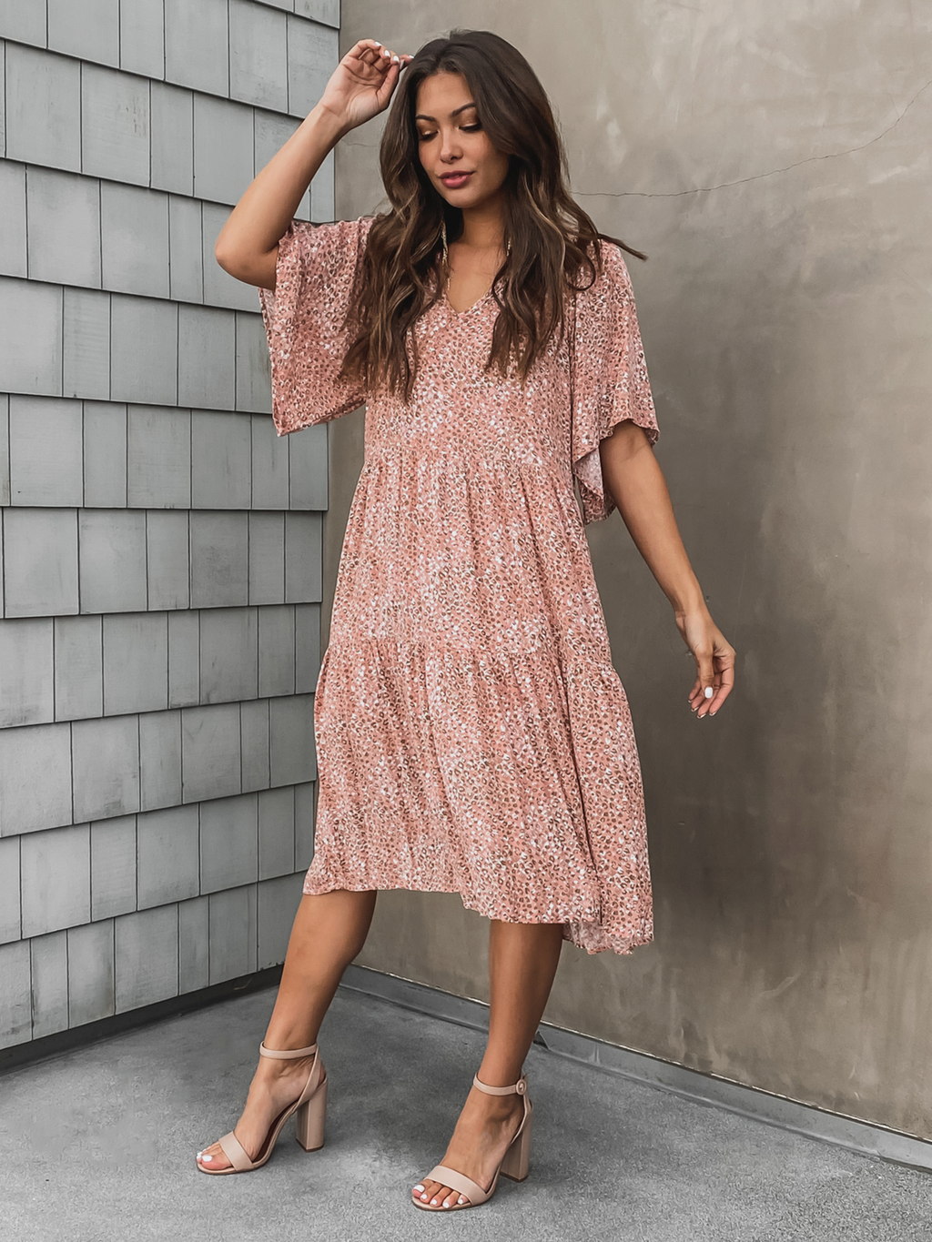 Britt Tiered Midi Dress - Stitch And Feather