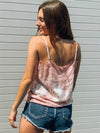 Lace Snake Tank in Pink - Stitch And Feather