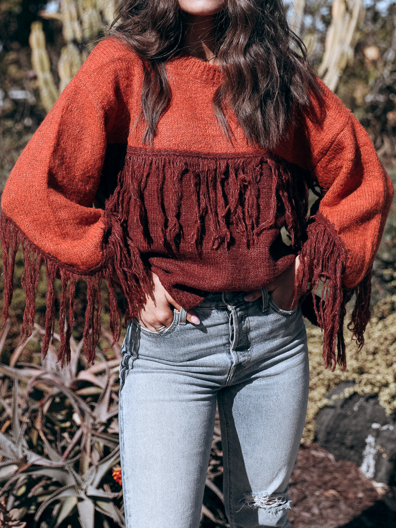 Fringe Fancy Sweater - Stitch And Feather