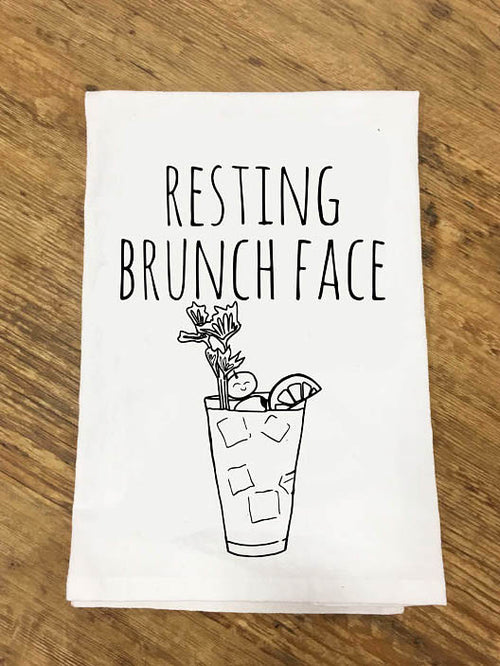 Resting Brunch Face Tea Towel