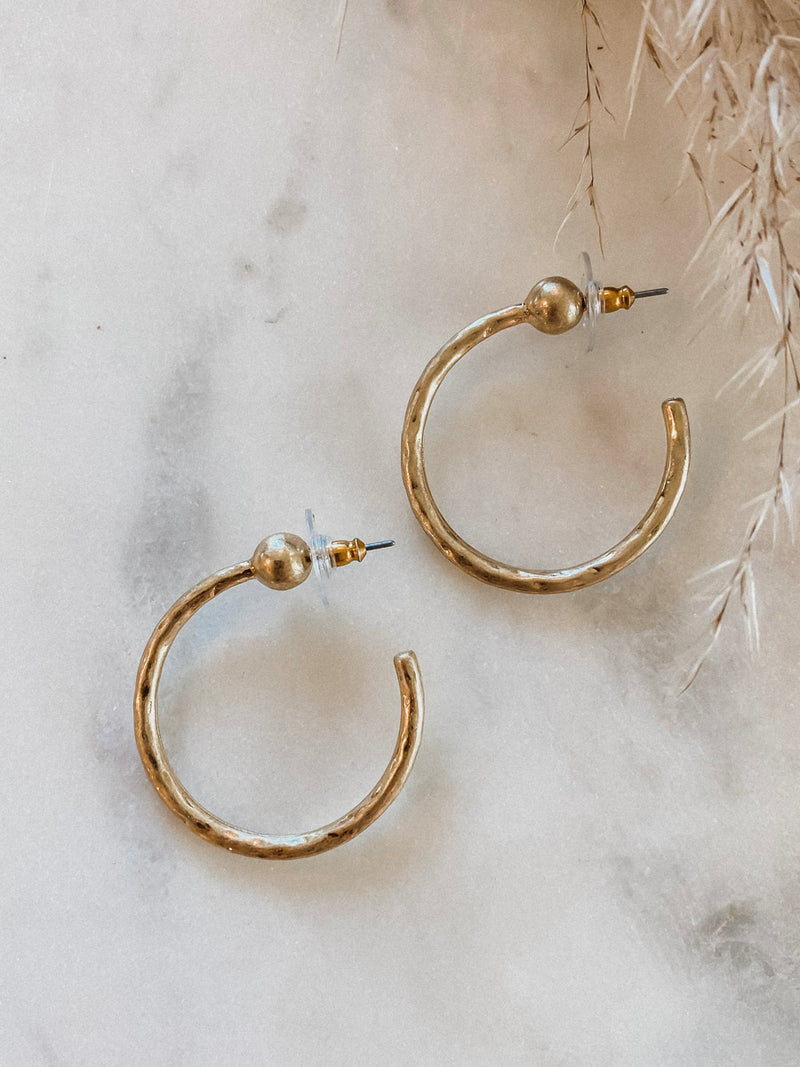 Neva Hoop Earring - Stitch And Feather