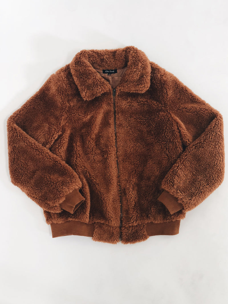 Roastin Fur Bomber Jacket