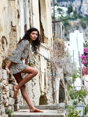 roma leopard, kivari, mini, dress, festival, spring, summer, blue, austrailian