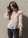 Rosie Floral Blouse - Stitch And Feather