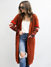 Nikki Striped Duster in Clay - Stitch And Feather