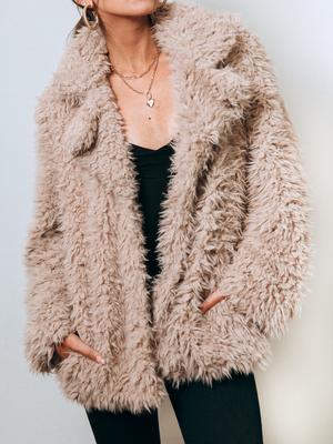 Ryann Fur Coat - Stitch And Feather