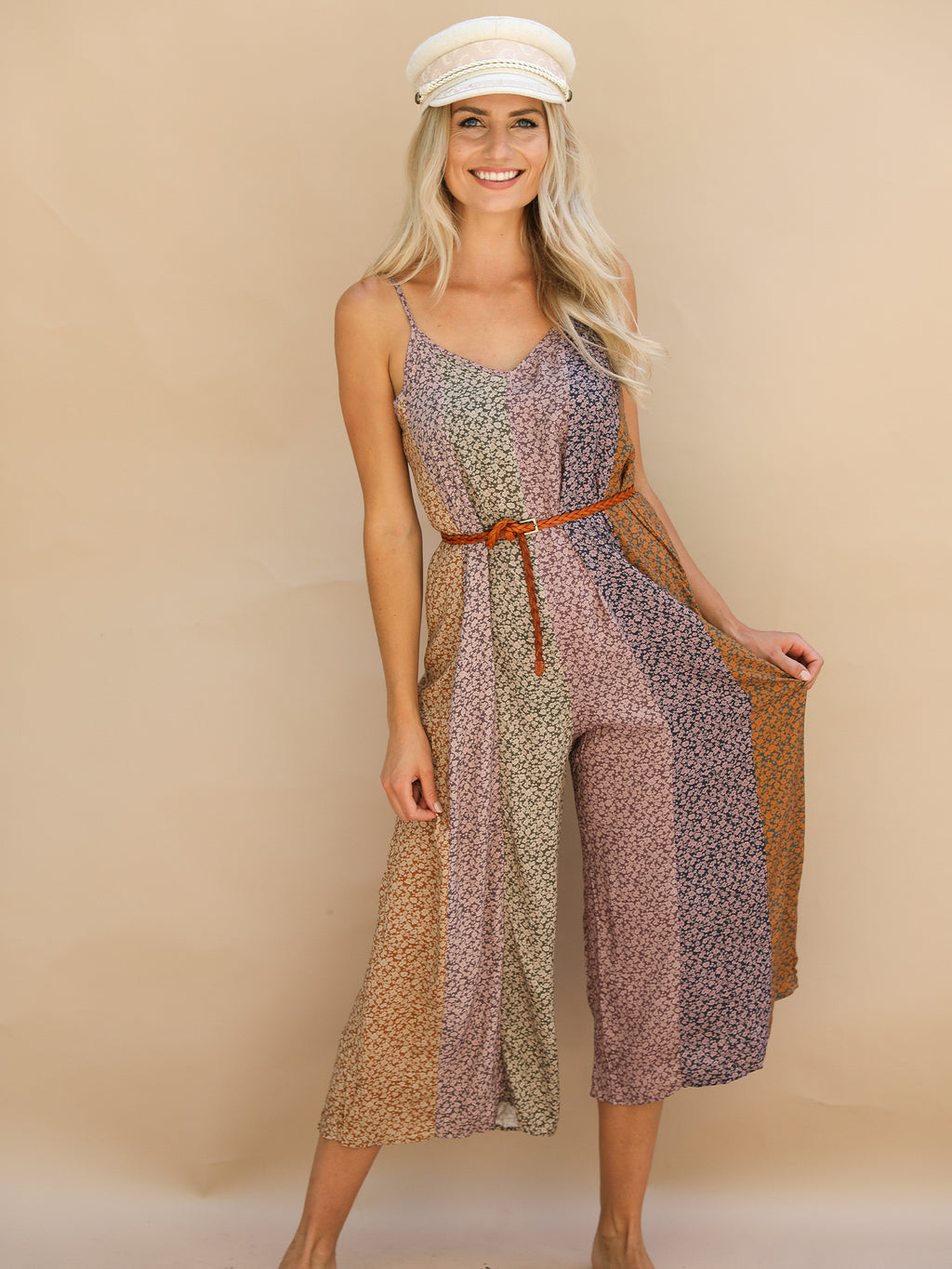 Field Of Flowers Jumpsuit - Stitch And Feather