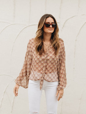 Sheer Sunset Top