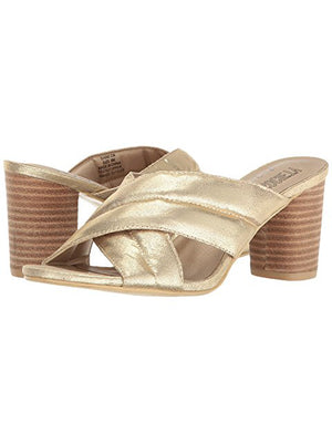 Shine On Gold Sandals - Stitch And Feather