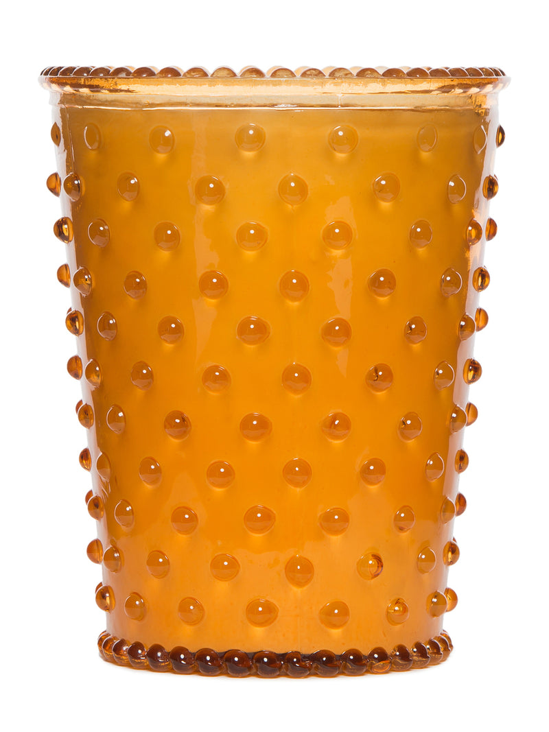 Simpatico Hobnail Glass Candle - Pumpkin -