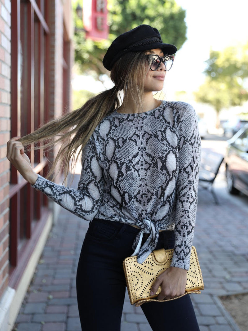 Slipped Away Snake Sweater