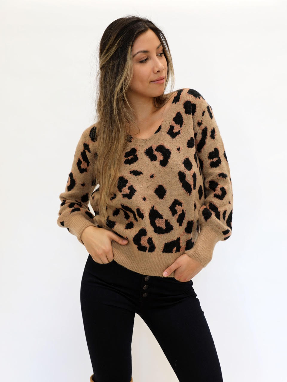 Speak Out Leopard Sweater