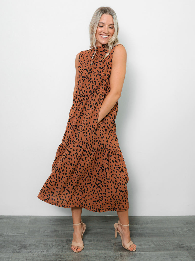 Josie Tiered Midi Dress - Stitch And Feather