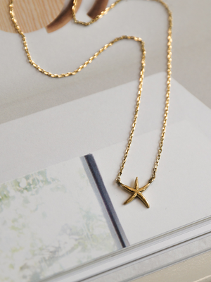 Star Fish Pendant Necklace - Stitch And Feather