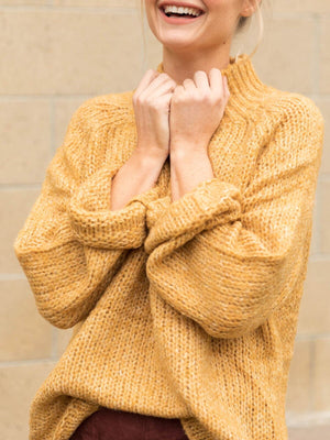 Stoned Heart Turtleneck Sweater - Stitch And Feather