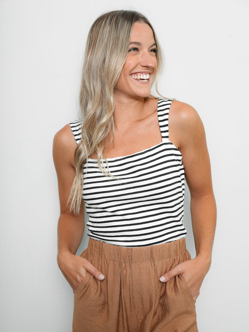 Ella Stripe Top - Stitch And Feather