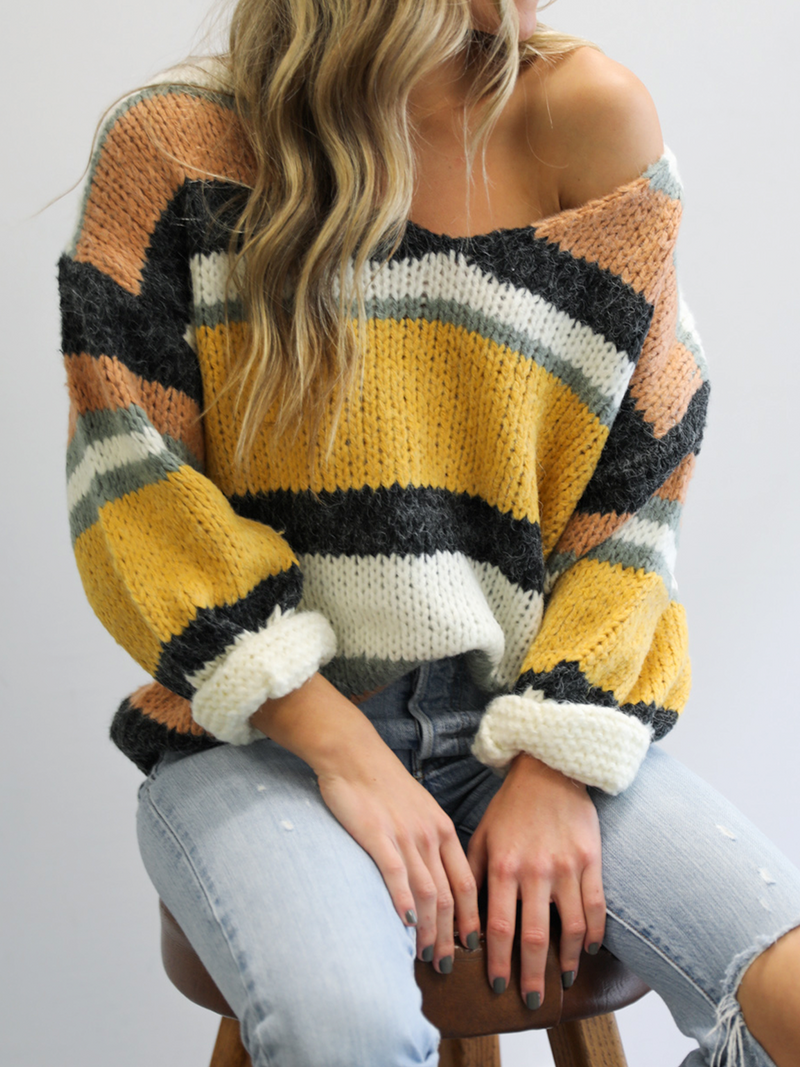 Audrey Stripe Sweater