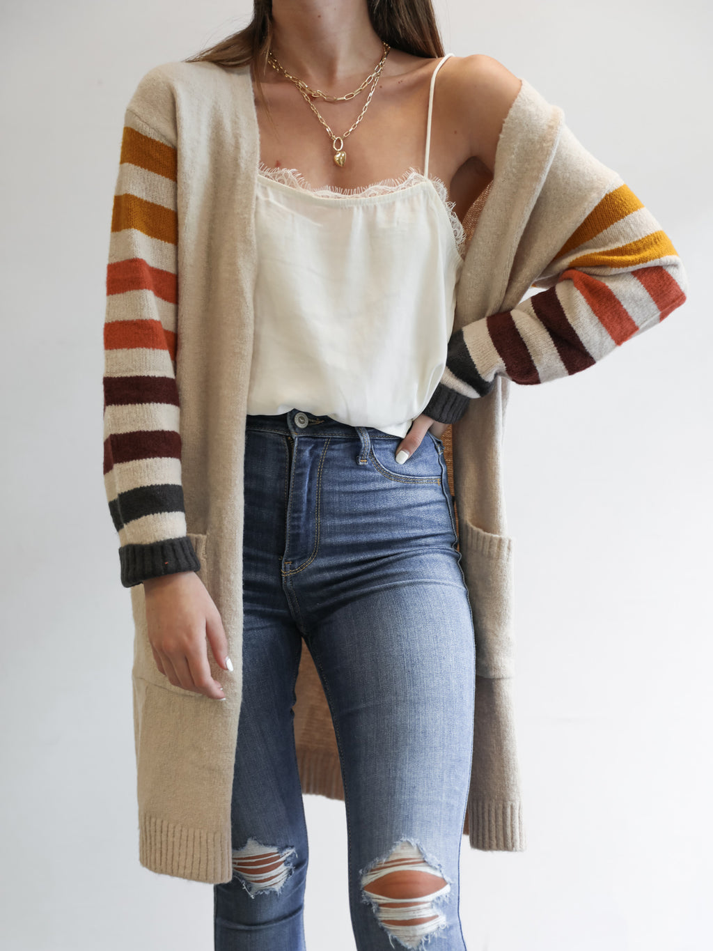 Nikki Striped Duster - Stitch And Feather