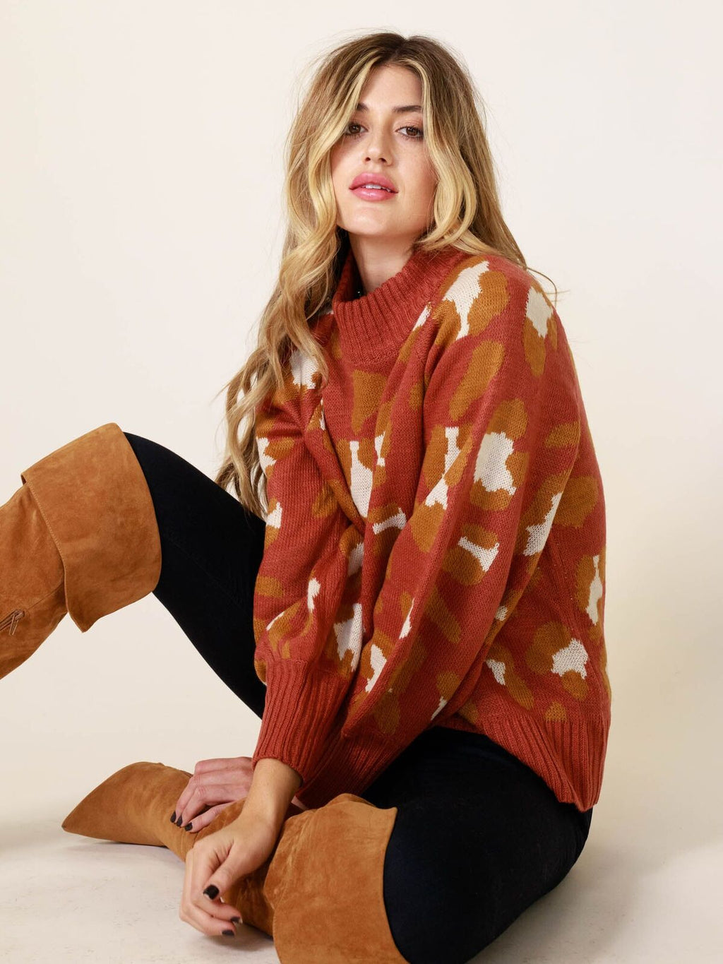 Sunset Leopard Spots Sweater