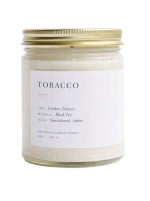 Tobacco Minimalist Candle - Stitch And Feather