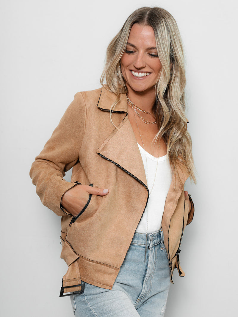 Tough Love Suede Jacket - Stitch And Feather