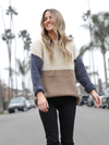 Meghan Colorblock Sweater - Stitch And Feather