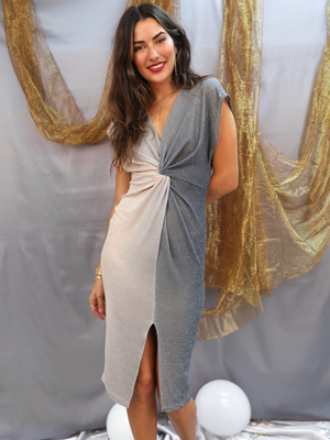 Pop The Bubbly Midi Dress - Stitch And Feather