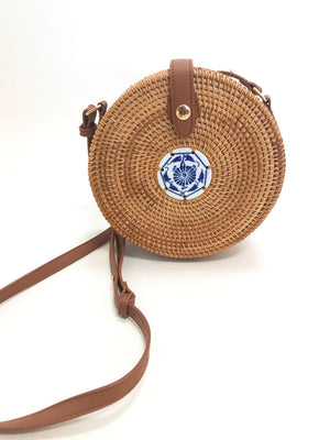 Santorini Skies Crossbody - Stitch And Feather