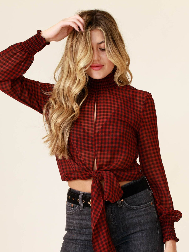 Cabin Chic Mock Neck Top