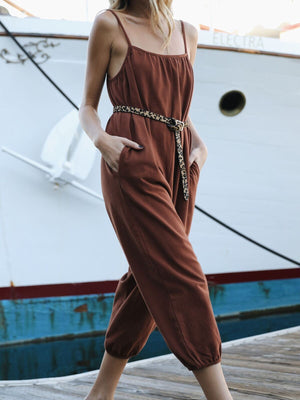 Up Again Pocket Jumpsuit - Stitch And Feather