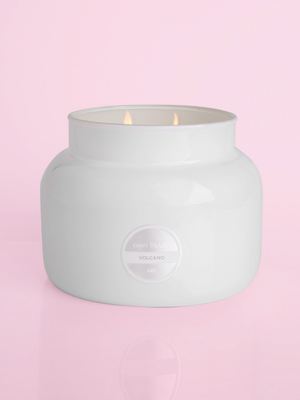 Volcano White Jar Candle by Capri Blue - Stitch And Feather