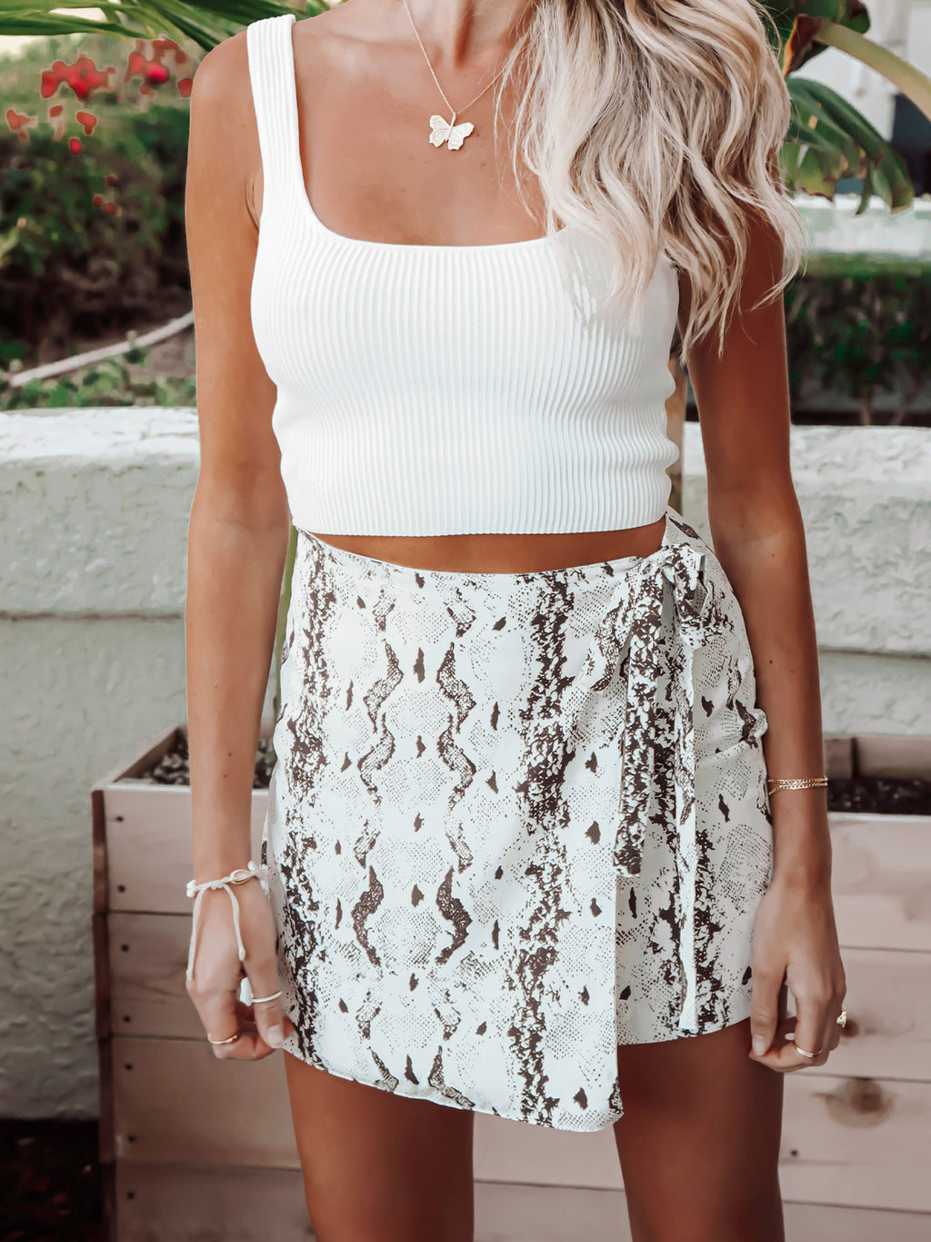 Snake mini wrap skirt - Stitch And Feather