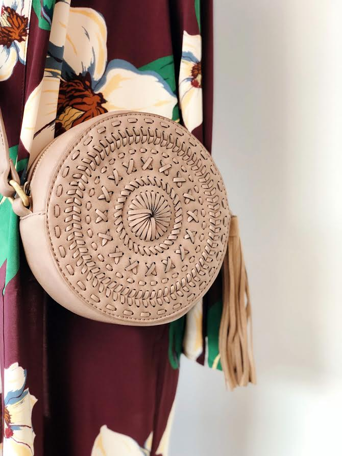 Whipstitch Tassel Cross Body Bag