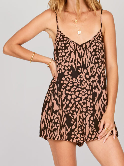 amuse society, romper, jumper, wild for you, animal print, multi,