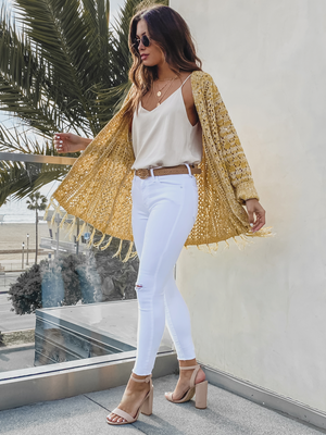 Sunny Days Fringe Cardigan - Stitch And Feather