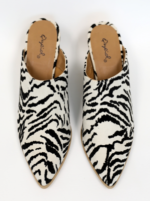 Nava Zebra Mule - Stitch And Feather