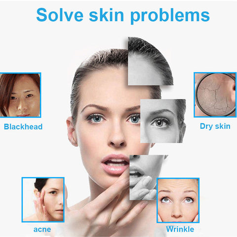 womans face showing skin problem solutions pores dry skin oily skin