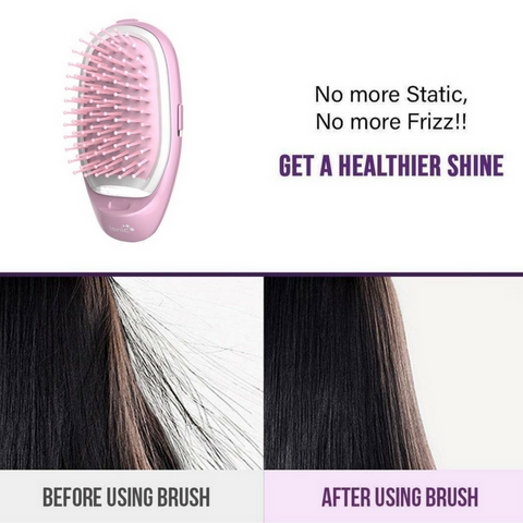 hair brush ionic ions frizz free smooth silky soft shiny bad hair day static electric styling
