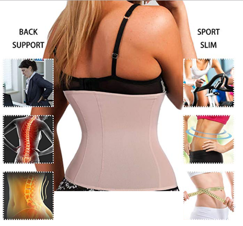 Waist trainer cincher corset vest tone stomach abs slim curves weight loss spanx shaper