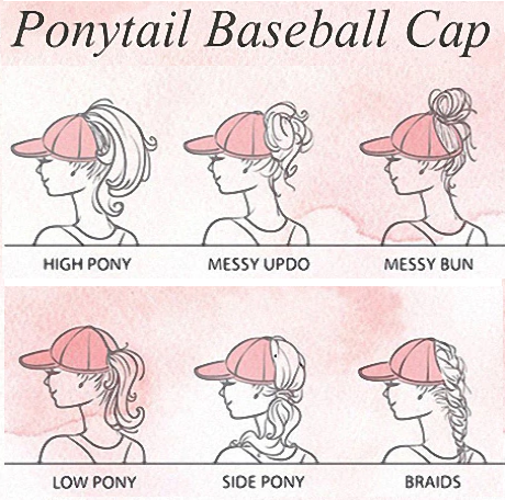 baseball cap fashion hairstyles summer accessories clothes hats ponytail buns plaits