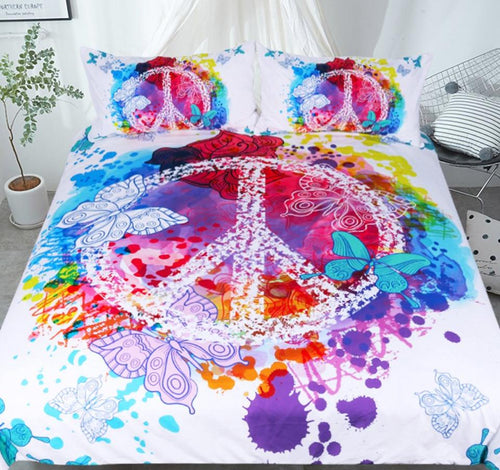 Peace Butterfly Bedding - Craftted