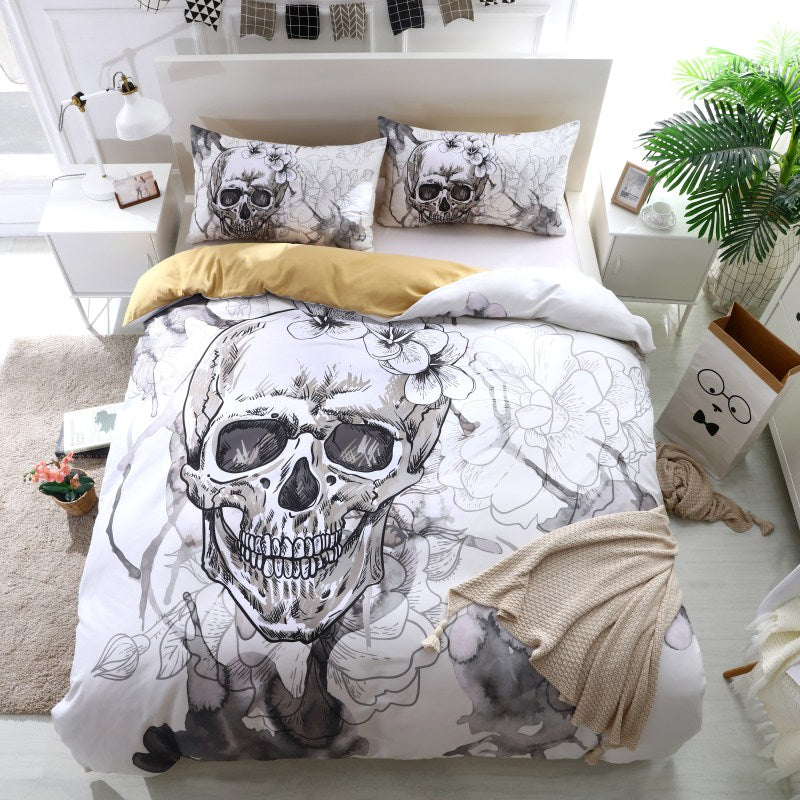 Smoky Skull Bedding - Craftted