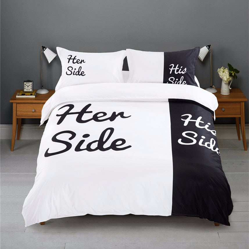 His & Her Side Bedding - Craftted