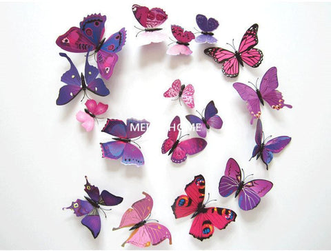3D Butterfly Wall Decor - 12 Piece Set – Craftted